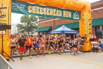 Cheesehead Run Start & Finish Locations