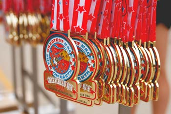 Cheesehead Run Medals